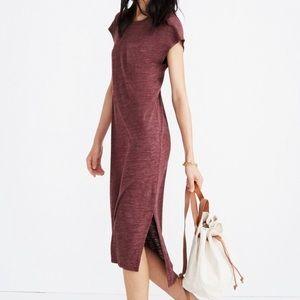 Madewell NWT burgundy muscle midi dress